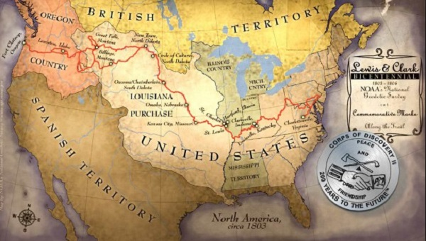 the corps of discovery route from fort mandan to the pacific 5 000 miles 16 month journey
