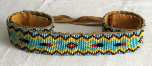Sacagawea's blue beaded belt