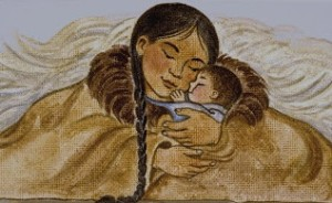 Sacagawea and baby Pompey