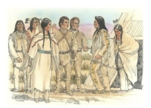 Sacagawea and brother Cameahwait