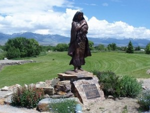 Sacagawea monument at Lemhi Pass