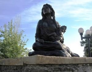 Sacagawea statue Coming Home