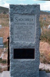Sacagawea tomb in wyoming, 1884